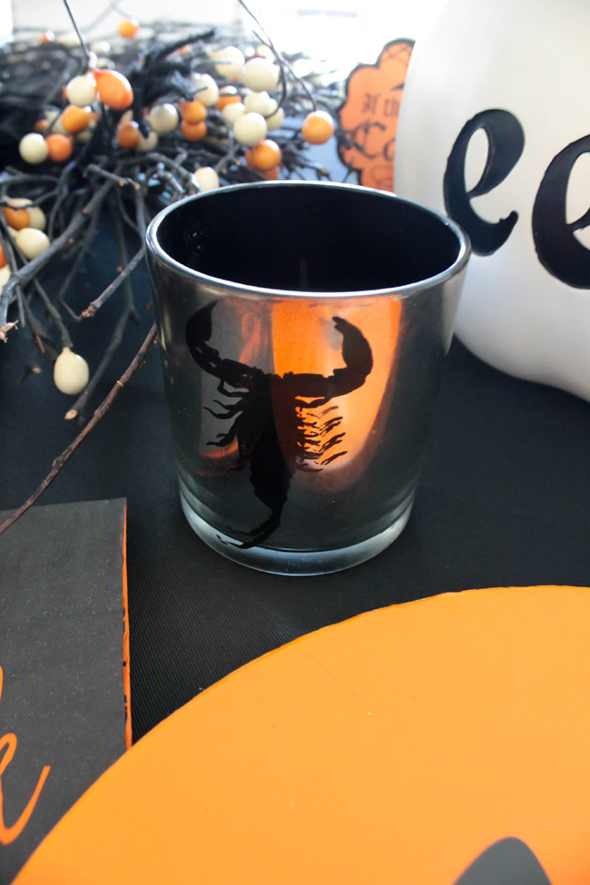 Love this Halloween votive candle!- See All Of The Lovely Details On B. Lovely Events