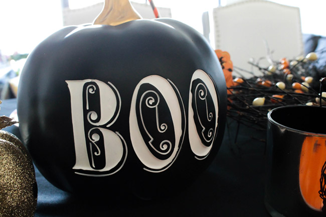 This Boo Pumpkin is so fun!- See All Of The Lovely Details On B. Lovely Events