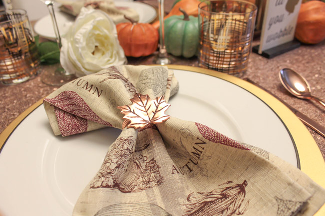 Lovely Thanksgiving Tablescape Thanksgiving napkins - B. Lovely Events