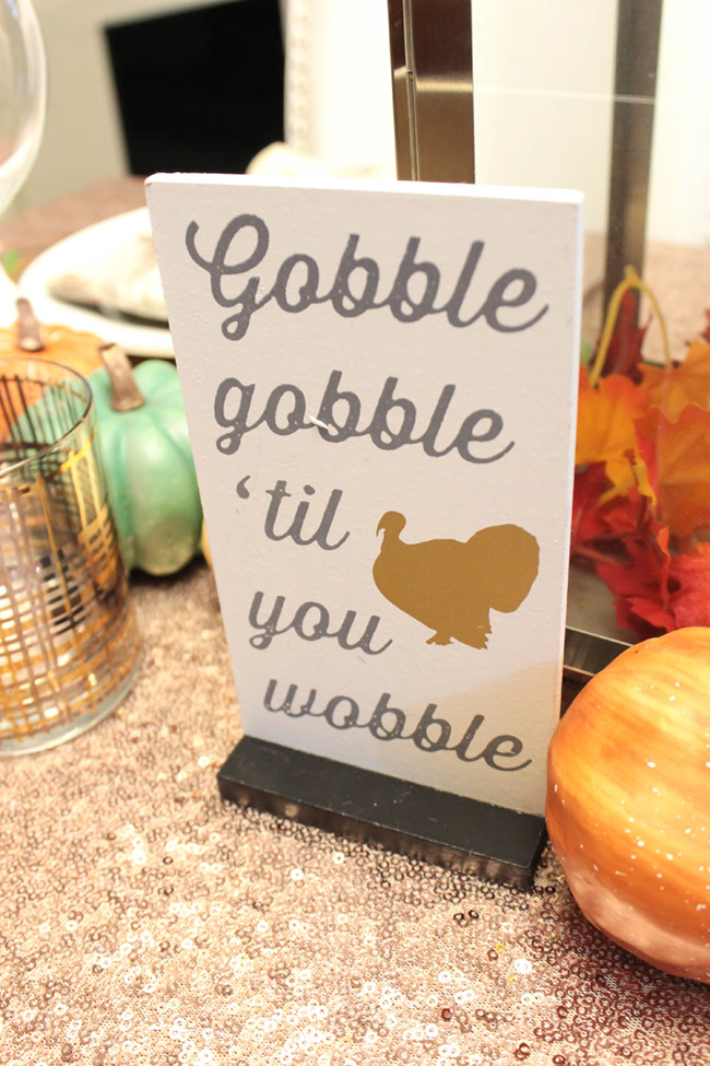 Lovely Thanksgiving Tablescape sign. So fun! - B. Lovely Events