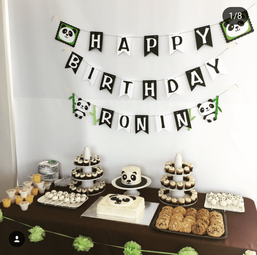 Love the simple details of this panda party -See more Panda Party ideas on B. Lovely Events