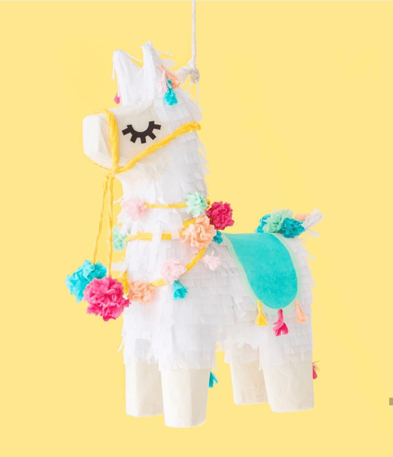 llama pinata- so cute! - See more llama party love on B. Lovely Events