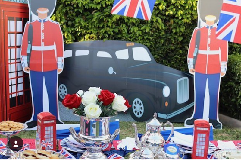 such a cute royal wedding party! - See More Royal Wedding Lovlieness at B. Lovely Events #royalwedding #partyplanning #partythemes