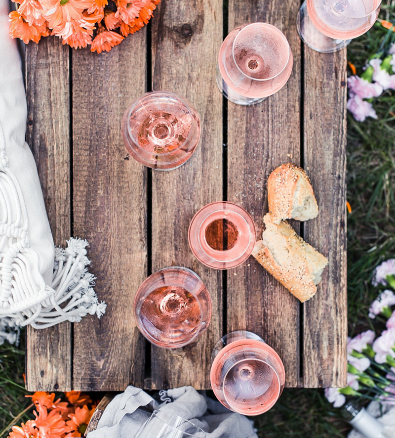 Beautiful Rosé set up! - See our favorite Rosé Party Ideas on B. Lovely Events!