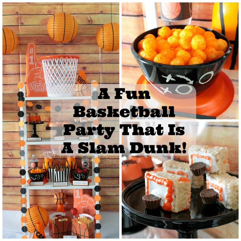 A Fun Basketball Party That Is A Slam Dunk! #basketball #basketballparty