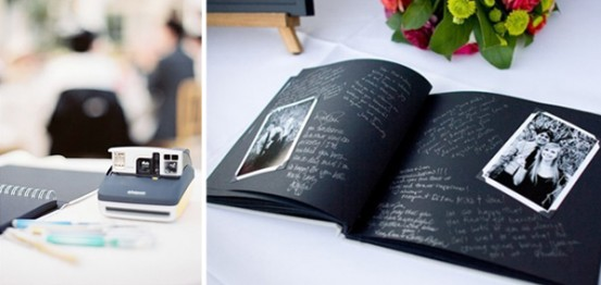 Black paged photo guestbook-great for writing notes