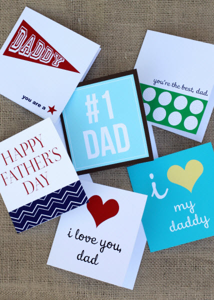 Free fathers day card printables via tomkat studio