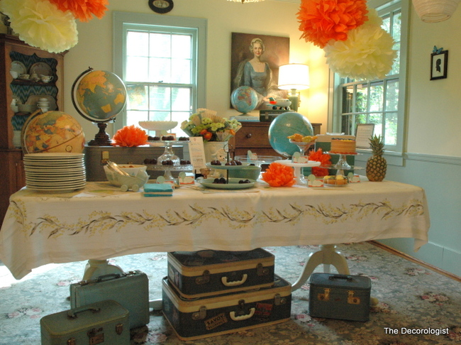 just darling at the travel themed baby shower on the decorologist