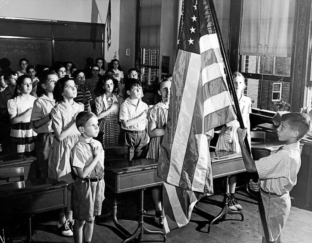 Image result for children with US flag vintage