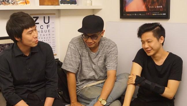潛規則團員(由右至左):貝斯手林頡、主唱/取樣凱爹、吉他手以霖,沒有出現在照片中的鼓手老吳(吳岳霖)身兼神棍樂團鑼鼓手,採訪時正在澳洲巡演。
