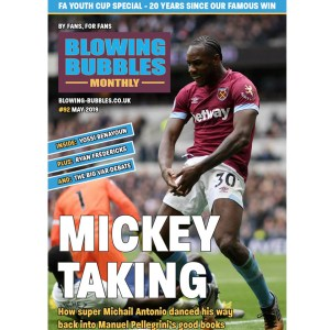 Blowing Bubbles West Ham United Fanzine