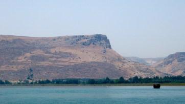 Mt. Arbel, seen from Sea of Galilee