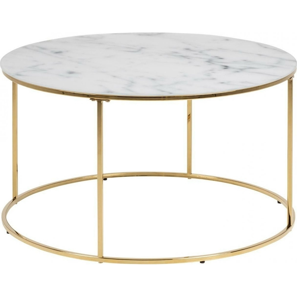 bolton 80 gold coffee table with marble top actona