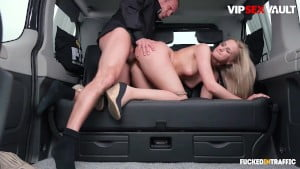 Fucked In Traffic – Kinky Driver Bangs His Big Ass Client Katie Sky