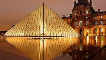france landmark lights night