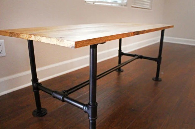 own stylish metal pipe coffee table