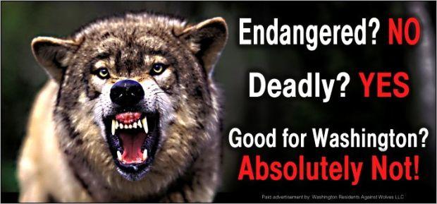 Anti-wolf billboard