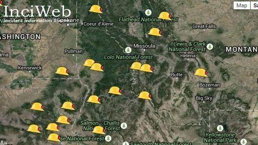 Current Fires Montana