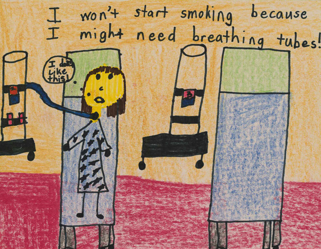 honors in anti smoking poster contest
