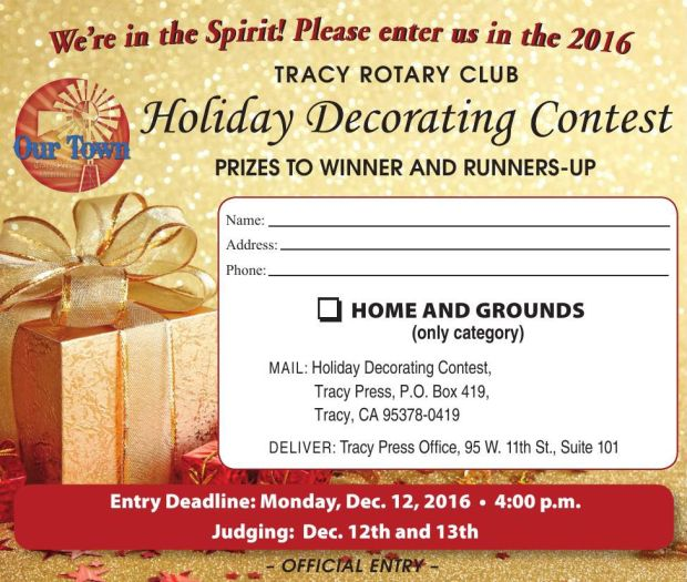 Holiday Decorating Contest Entry Form