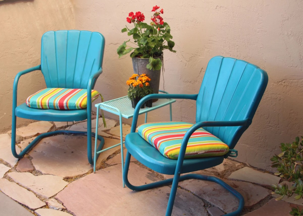 metal patio chairs redux comeback for