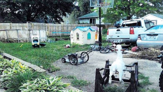 Backyard of house at 173 W. State St. Burlington