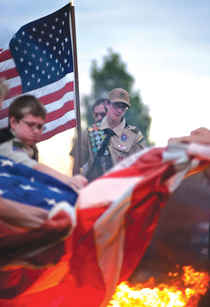 Boy Scouts Retire 101 American Flags In Honor Of 9 11