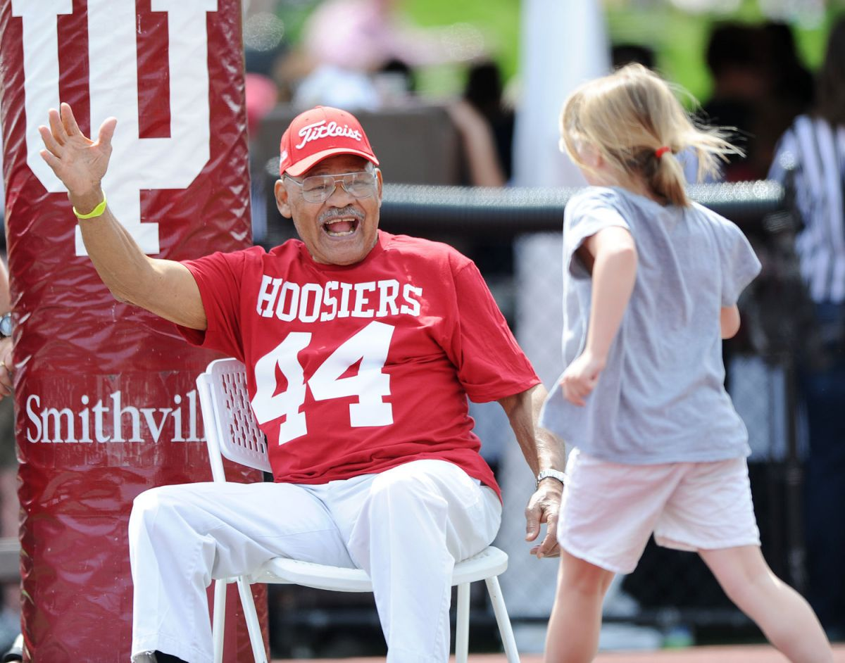 George Taliaferro at IU spring game