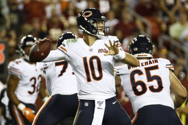 Trubisky, Bears get offense on track, beat Redskins