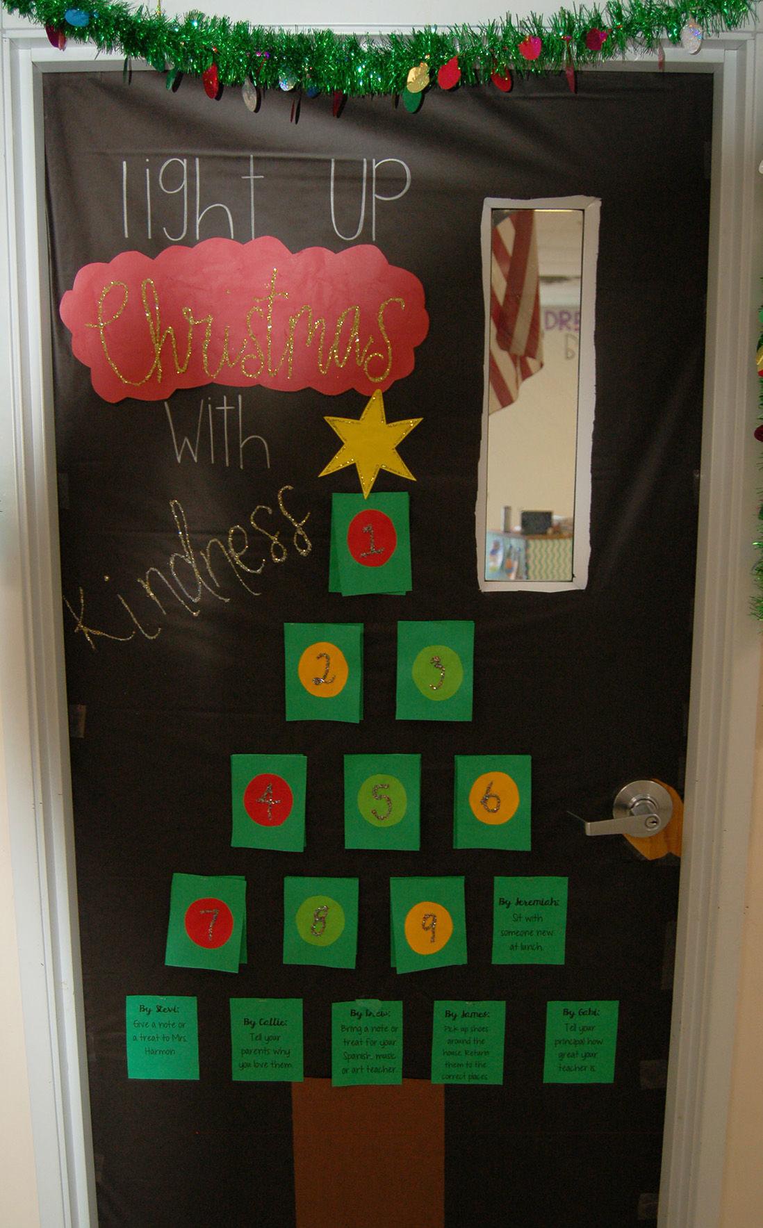 Atlantic Christian School S Annual Christmas Door