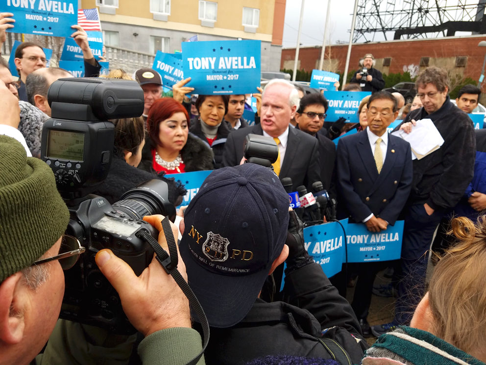Avella announces mayoral run with a populist appeal