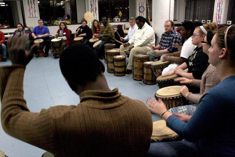 The beat of a stronger drum: Local performers play for Baker