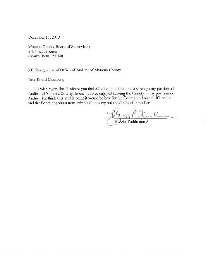 Resignation Letter Of Auditors Sample - Resume Layout 2017
