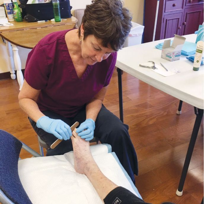 Senior foot care is extremely important. (image)