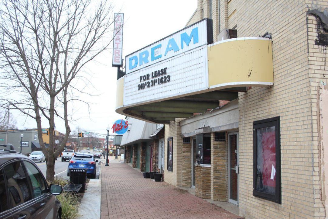 Dream Theater in downtown Tahlequah, Oklahoma. Image from Tahlequah Daily Press