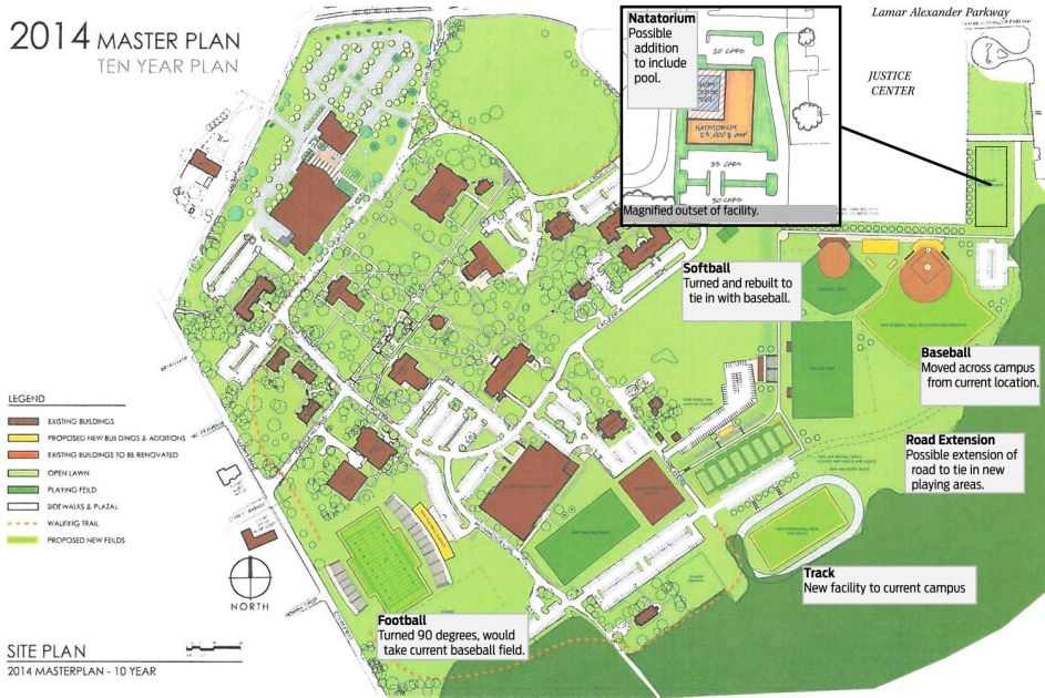 Maryville College Campus Map