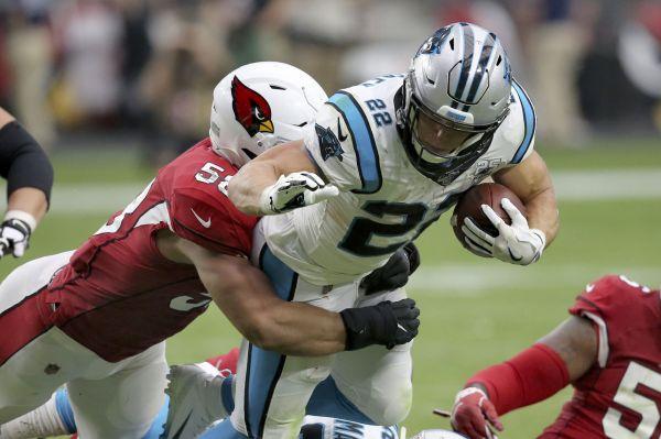 Allen, McCaffrey help Panthers run away from Cardinals