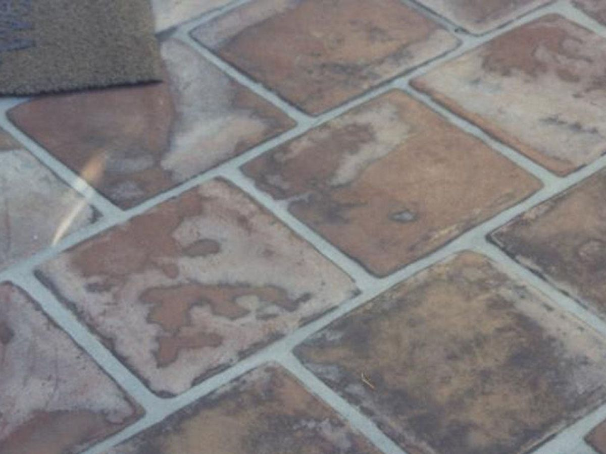 placed atop saltillo tiles but