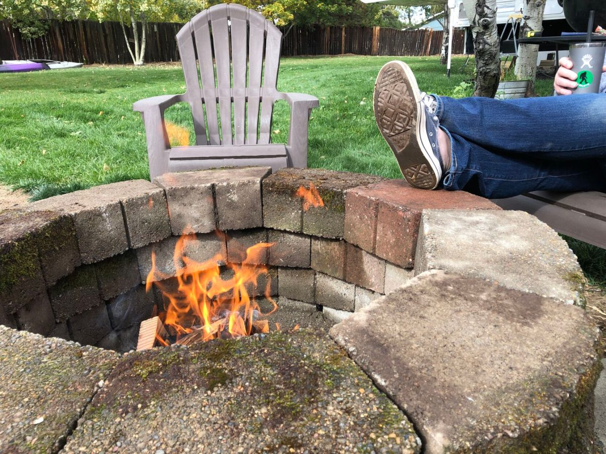 bask in the warmth of a diy fire pit