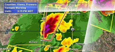 Tornado Warning CBS Denver - Tornado In Colorado Today