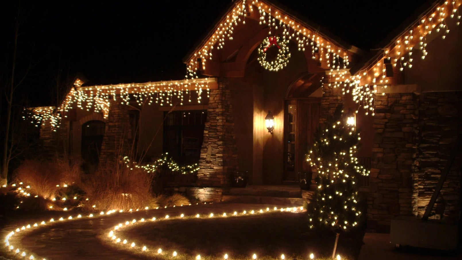 put the holiday lights on your house