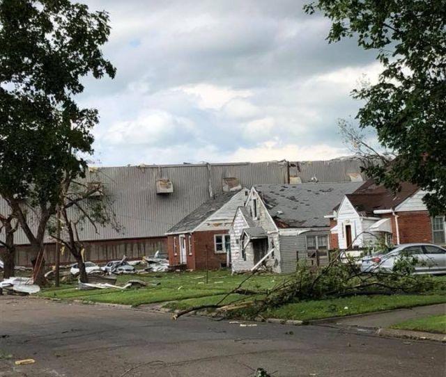 Damage After Tornado Hits Marshalltown Iowa