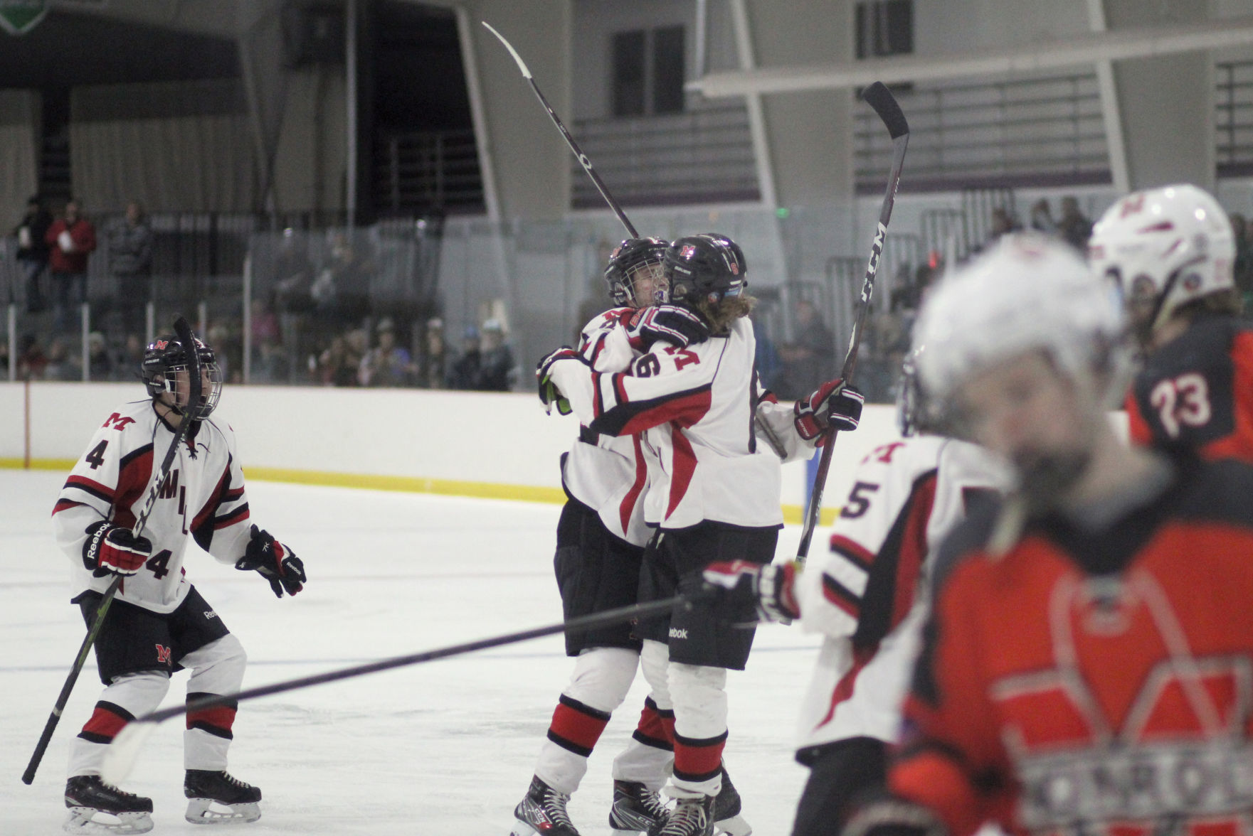 Boys hockey: Red Hawks take down Lakers | Milton Courier ...