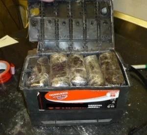 Methamphetamine found in car battery