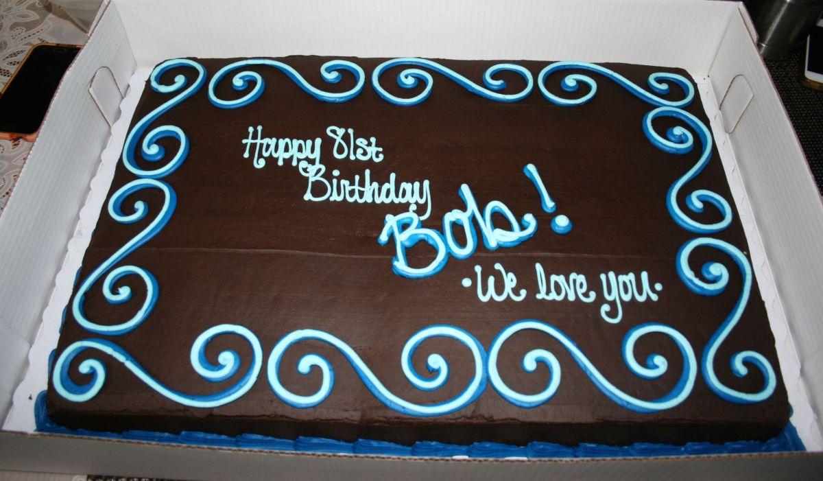 Happy Birthday Bob Cake Birthday Party