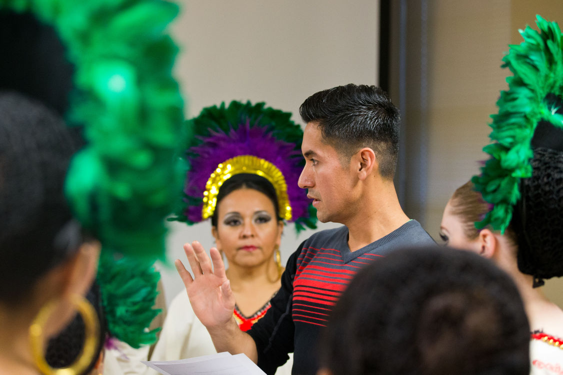 "Mexican pride making strides [JUMP]""I'm not just teaching them dance, I'm teaching them how rich our culture is."" Hector Marino, founder of Omaha's Xiotal Ballet Folklorico Mexican dance company"