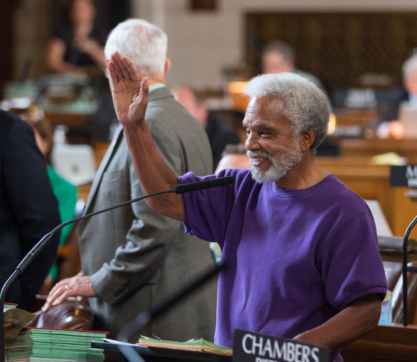 Death penalty repeal veto override vote - Ernie Chambers