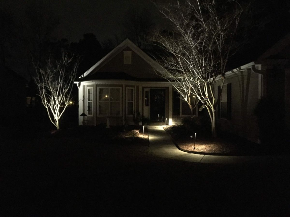 outdoor lighting adds