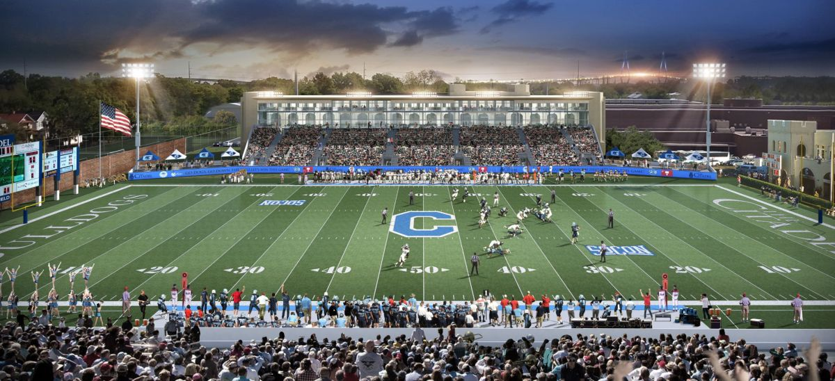 The Citadel Moves Ahead With Plan For Field Turf New Stands At Johnson Hagood Stadium Sports