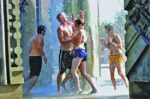 Image result for purdue fountain run